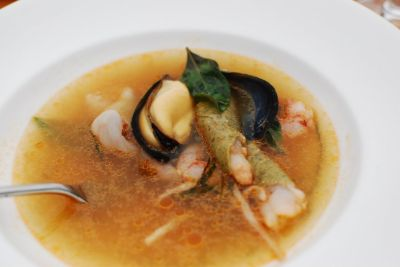 Spot Prawns Seafood and Seaweed Broth