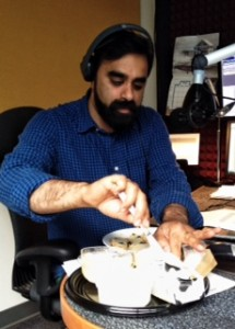 CBC Radio host Khalil Aktar trying butters during my Food Matters segment