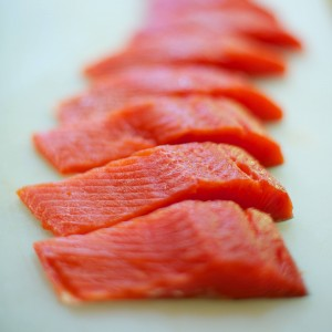 Sockeye Salmon fillets (photo by Bettina Harvey)