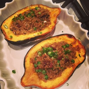 Roast Acorn Squash with Quinoa Pilaf